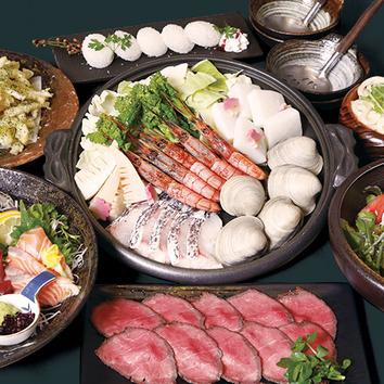 土日祝日月火水木限定 2時間飲放付『海鮮寄せ鍋』コース4,990円
