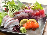 魚市場で長年勤務してきたお父さんの目利きで仕入れた鮮魚の『壱盛』