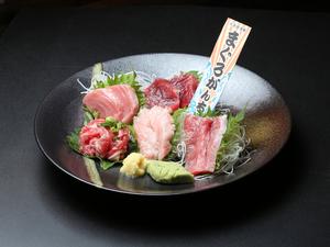 ホホ・脳天・のど肉・カマトロ刺身・あご肉タタキを食べ比べ『希少部位盛り合わせ』