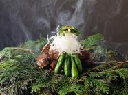 ほうじ茶を燻して芳ばしく『焼物』神戸牛ステーキ