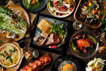 【イタリアン】お肉やパスタ、有機野菜グリルなどワインによく合うオシャレヘルシー料理が満載♪