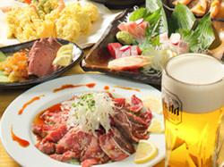 新鮮魚介、アンデス高原豚、熟成肉を使ったボリュームコースをゆったり3時間飲み放題付きでご提供致します