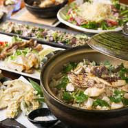 海の風味が口中に広がる『真鯛の土鍋炊きこみご飯』