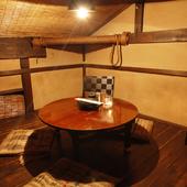 プライベートな時間を満喫できる、大小様々な個室を完備