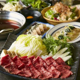 旬の食材を使用した宴会コースは飲み放題付き3000円~
