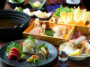 幻の高級魚を懐石のフルコースで堪能『天然クエ鍋コース』