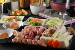 「但馬鶏」と、新鮮なとれたての野菜をすきやきで味わうコース