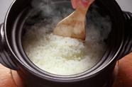ご飯も旨い! 最高級米をふっくら炊き上げる『土鍋ごはん』