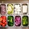 低温に保たれた野菜ストッカーには常に新鮮な野菜がたっぷり