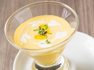 素材の味を生かして仕立てた『バターナッツの冷たいスープ』