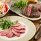 シェアスタイルでステーキを提供。お肉好きさんのデートに