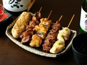 上質・新鮮な国産鶏を使用『焼きとり5種盛り』