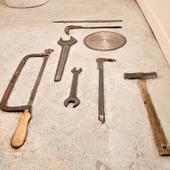 LABOのイメージにぴったりな工具も、素敵なオブジェ
