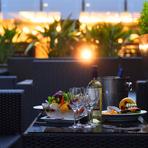 気候の良い時期にはビアテラスが開催されており、クラフトビールを含むお酒を2時間飲み放題。シャルキュトリーなどのお肉料理も用意されており、優雅なランチママ会となりそうです。