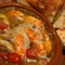 プリプリのエビをオリーブオイルで煮込んだ逸品『ソフトシェルシュリンプのアヒージョ』