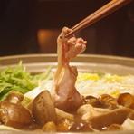 季節のお野菜とこだわりの地鶏を堪能『宮崎地鶏のすき焼き』