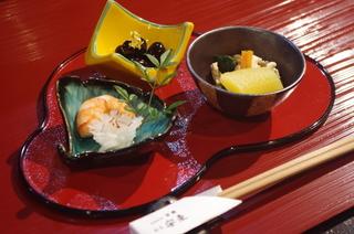 宮崎地鶏のもも肉塩焼き、タタキの付け合わせ