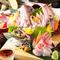 おすすめの『鮮魚のお造り五種盛り』