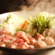 新鮮地鶏を鍋で味わう『特選地鶏の白湯鍋』