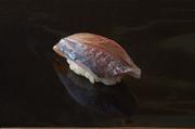 この日は島根産のもの。小ぶりで身の厚い鯵を仕入れ、片身で一貫握ります。しっかりと食べ応えのある鮨です。
