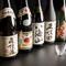 各地の地酒、日本酒、焼酎、ワインなど。酒通も納得の品揃え