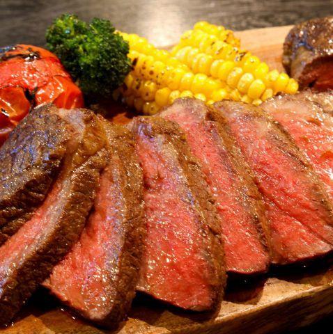 黒毛和牛ステーキの写真