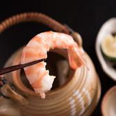 美味しい海老も入った『松茸の土瓶蒸し』