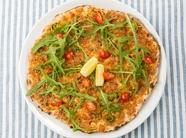 中東で皆に愛されているファストフード『D's  スーパークリスピーピザ(ラフマジュン)』