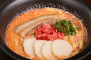 オリジナルメニュー『豆乳スープのえび沖縄そば』