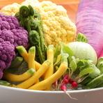 本来の美味しさをダイレクトに。契約農家直送の新鮮な「野菜」