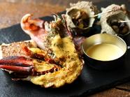 海の幸も美味『オマールエビも入った本日の海鮮グリルプレート』