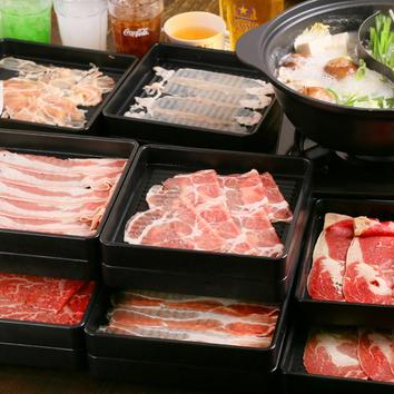 豚+鶏しゃぶ食べ放題コース