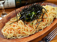 ボリュームもあり、食べ応えバツグンのパスタ『たらこ野沢菜』