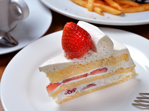 『自家製ケーキ』※種類が変わることもあります。画像は「イチゴのショートケーキ」