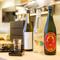 広島や山口の蔵元を中心に揃えられた、豊富な日本酒