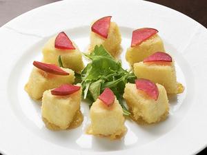 アプリコットジャムがマッチした『カマンベールチーズのフライ』