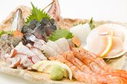 瀬戸内の旬魚介を満喫できる『海鮮お刺身 盛り合わせ7種』