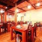 西条の少し外れに佇む当店は91席のお席をご用意しており。ゆったりとした空間の中お食事を愉しめます。