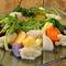契約農家のいろいろな野菜のサラダ 玉葱のドレッシング