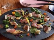 毎日市場で仕入れる『鮮魚のカルパッチョ2種 サラダ仕立て』