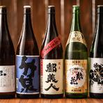 地酒はお米と水が命の純米酒。地元兵庫を中心に、山形や宮城、新潟など米どころの地酒が揃っています。地元の食材を使った料理に地元のお酒という取り合わせも楽しめます。