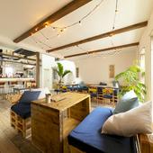 何時間でもいられる、西海岸のカフェのようなくつろぎの空間
