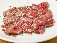 口の中でとろける、あっさりした『牛肉のカルパッチョ』