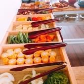 ランチセットはお野菜たっぷりのおばんざい食べ放題つき!