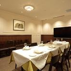 プライベートな個室は、大切な会食にぴったり