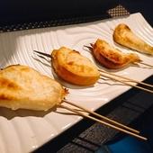 もっちり食感の『熟成スカモルツァチーズ串』