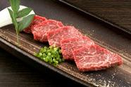 柔らかい赤身肉のおいしさと食感を堪能できる『上ロース』