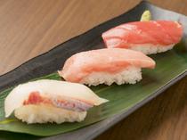 旬の、新鮮な魚だけを握る『お寿司3種盛』