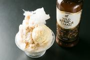 クリーム系のリキュールを使用したアイスクリーム入りの濃厚なかき氷!