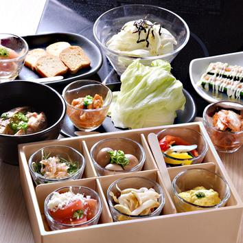 <しゃぶしゃぶ>アンデス高原豚と国産野菜 寿司盛り食べ放題